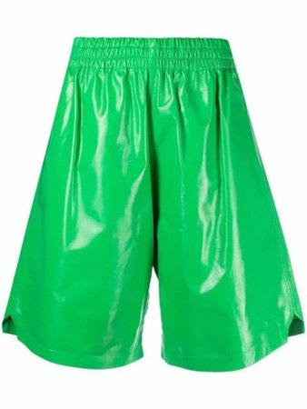 Bottega Veneta knee-length leather shorts - FARFETCH