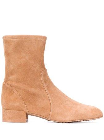 Stuart Weitzman Suede Ankle Boots - Farfetch