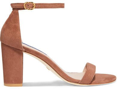 Nearlynude Suede Sandals - Brown