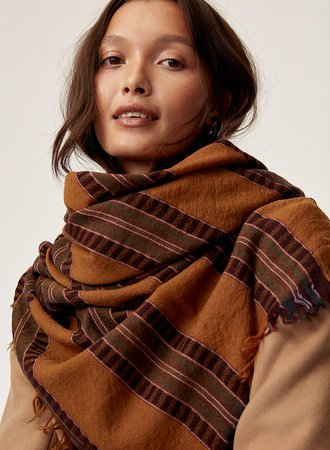 Wilfred MIXED STRIPES BLANKET SCARF | Aritzia US