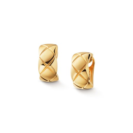 Chanel Coco Crush earrings Quilted motif earrings in 18K yellow gold Ref. J11134