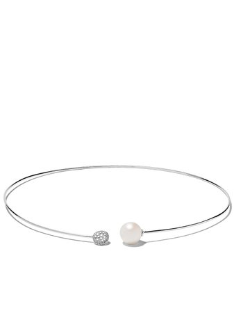 Yoko London 18kt White Gold Trend Freshwater Pearl And Diamond Necklace - Farfetch