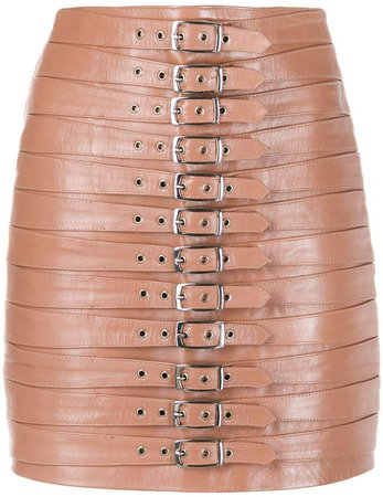 Manokhi Dita buckled mini skirt
