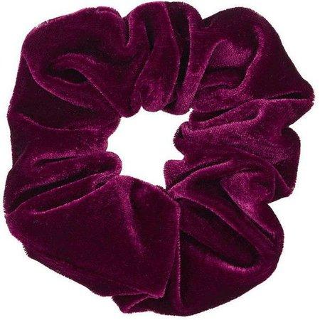 burgundy scrunchie