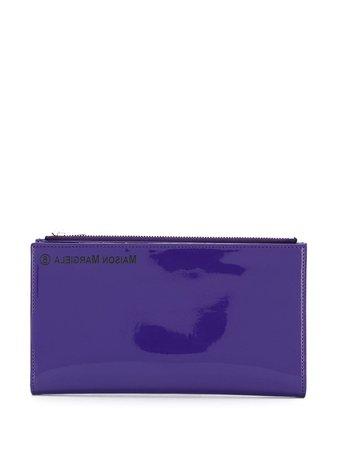 Purple Mm6 Maison Margiela Rectangular Wallet | Farfetch.com
