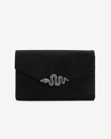 Snake Buckle Envelope Clutch