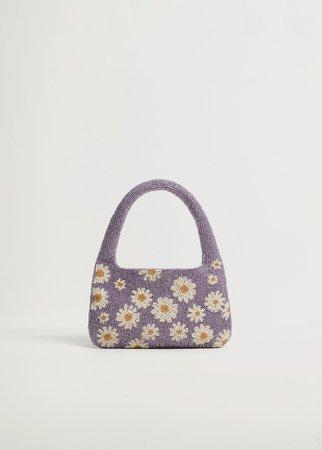 Flower bead mini bag - Women | Mango USA
