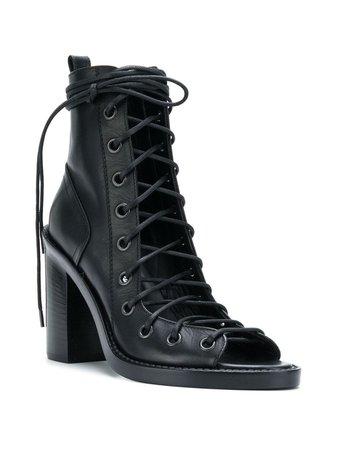 Ann Demeulemeester Blanche Lace-Up Sandals | Farfetch.com