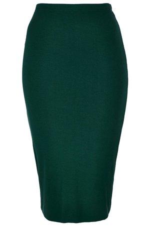 Women's Dark Green Double Layer Tube Skirt