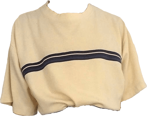 aesthetic clothes png retro shirt yellow strip