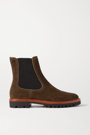 Carmine Suede Chelsea Boots - Army green