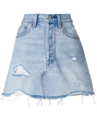 Levi's deconstructed denim skirt $62 - Buy Online - Mobile Friendly, Fast Delivery, Price