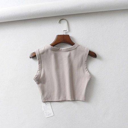 Flotto Cropped Tank Top | YesStyle