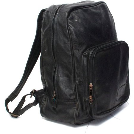GRUNGE black leather 80s 90s BACKPACK goth mini UNISEX knapsack