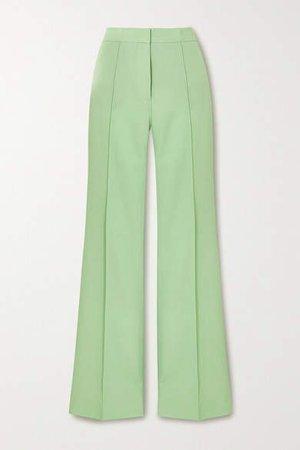 Victoria, Victoria Beckham - Victoria Twill Wide-leg Pants - Mint