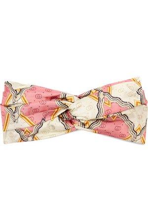 Gucci | Printed silk-twill headband | NET-A-PORTER.COM