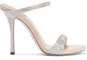Rene' Caovilla Crystal-embellished Satin Sandals