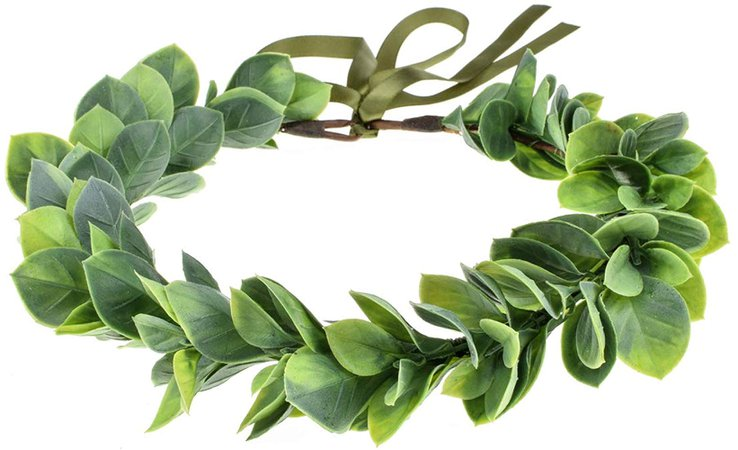 Amazon.com: Floral Fall Artificial Baby Breath Flower Halo Wedding Crown Lilac Bridal Headpiece Greenery Crown HC-24 (Eucalyptus Green Leaf): Clothing