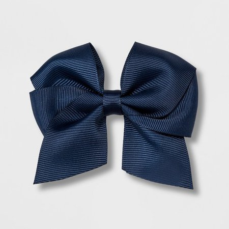 Girls' Solid Bow Clip - Cat & Jack™ Navy : Target
