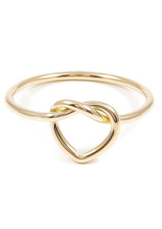 Minimalist Heart Knot Ring Gold - Happiness Boutique