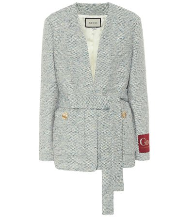 Gucci, Tweed cotton-blend jacket