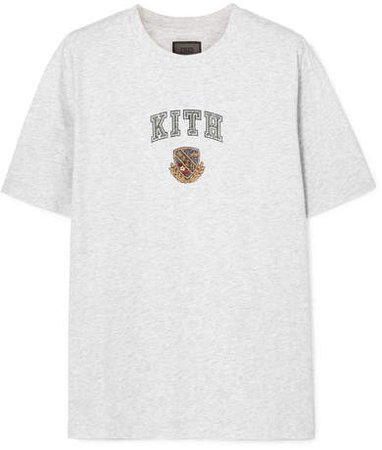Kith - Lucy Printed Cotton-jersey T-shirt - Gray