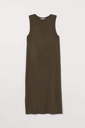 Sleeveless Jersey Dress - Green