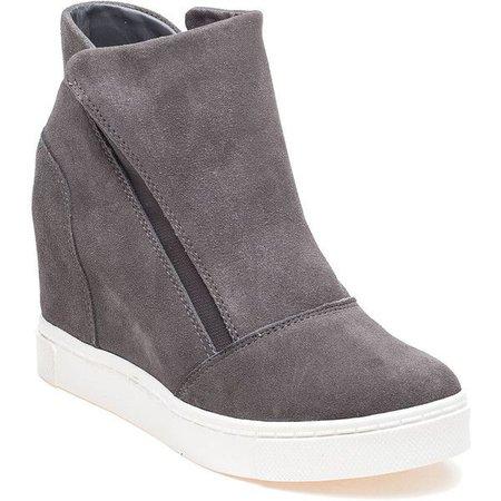 Grey Sneaker Wedges