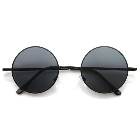 Retro Hippie Fashion Metal Color Lens Sunglasses - zeroUV