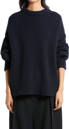 Ophelia Oversize Crewneck Wool & Cashmere Sweater