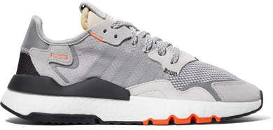 Nite Jogger Ripstop, Mesh And Suede Sneakers - Gray
