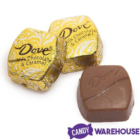 Dove Milk Chocolate Caramel Squares: 28-Piece Bag | CandyWarehouse.com