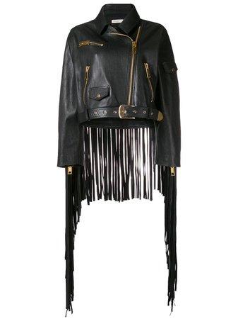 Natasha Zinko oversized fringed jacket $1,438 - Buy AW18 Online - Fast Global Delivery, Price