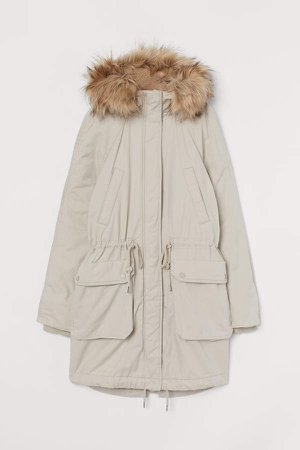 Cotton Twill Parka - Beige