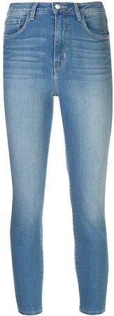 denim cropped skinny jeans