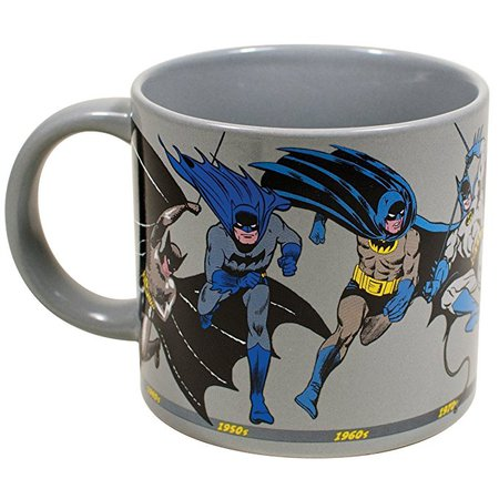 Batman Through the Years Coffee Mug - DC Comics Officially Licensed - From Golden Age to The Dark Night - Comes in a Fun Gift Box