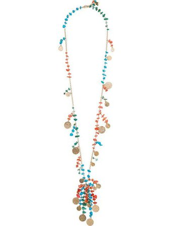 Rosantica double loop beaded coin necklace