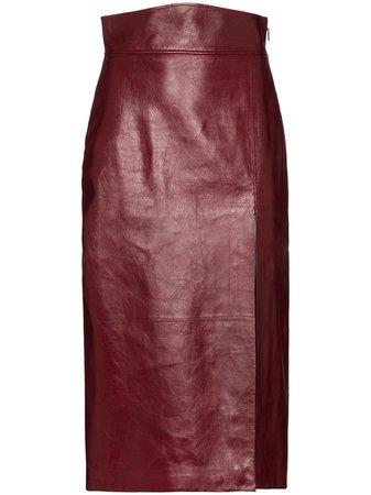 Gucci Leather Pencil Skirt - Farfetch