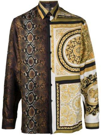 Versace Camisa Com Estampa De Seda - Farfetch