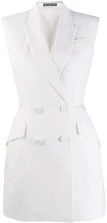 lace detail blazer dress