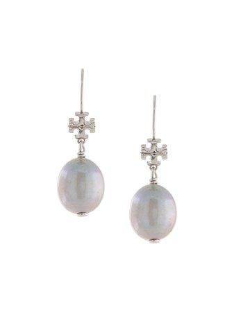 Tory Burch Pearl Drop Earrings 57719 White | Farfetch