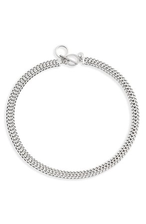 Halogen® Double Curb Chain Collar Necklace | Nordstrom