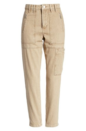 Topshop Utility Ankle Mom Jeans (Stone)