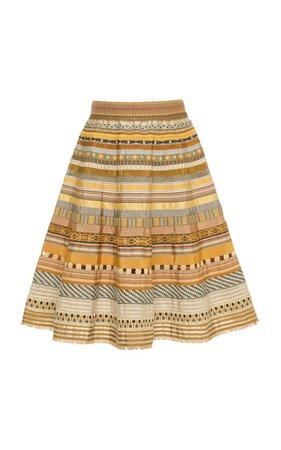 Ribbon A-Line Skirt by Lena Hoschek   Moda Operandi