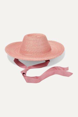 Gigi Burris | Aloha grosgrain-trimmed raffia straw hat | NET-A-PORTER.COM
