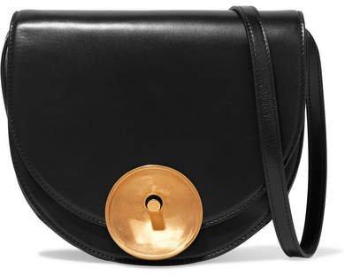 Monile Large Leather Shoulder Bag - Black