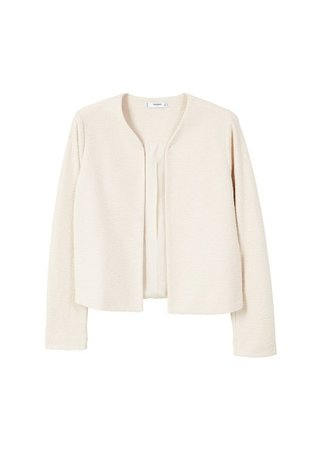 MANGO Textured jacket