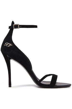 Black Crystal-embellished suede sandals   Sale up to 70% off   THE OUTNET   ROGER VIVIER   THE OUTNET