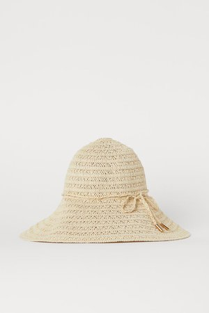 Straw hat - Light beige - Ladies | H&M