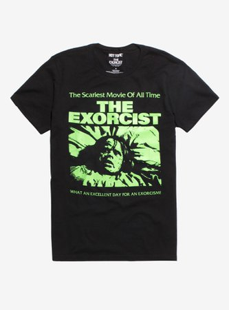 The Exorcist Neon Green Print T-Shirt